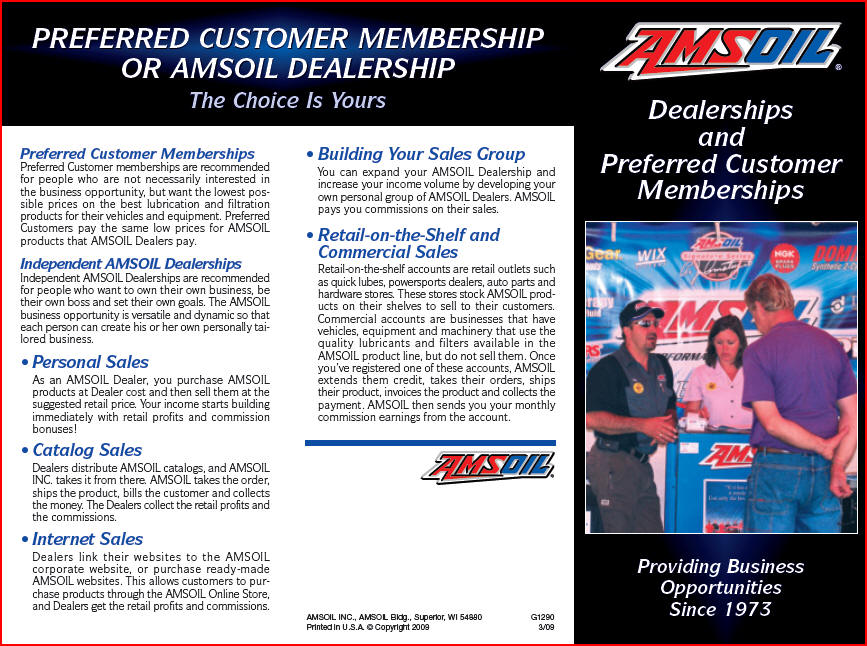 Amsoil dealer prefferd customer information
