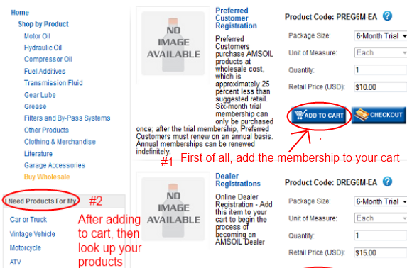 how to add the Amsoil preferred customer discount to your cart to get wholesale prices immediately